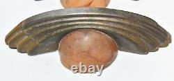 Unique 4 Vintage Matching Art Deco Avec Bakélite Dôme Tire Poignées