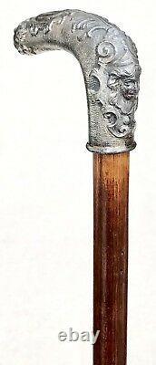 Vintage Antique Art Déco Galvanized Metal Handle Hardwood Walking Stick Cane Old Vintage Antique Art Déco Galvanized Metal Handle Hardwood Walking Stick Cane Old Vintage Antique Art Déco Galvanized Metal Handle Hardwood Walking Stick Cane Old Vintage Antique Art Déco Galvan