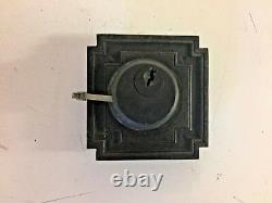 Vintage Art Déco Brass Penn Entry Door Set Pull Handle Plate Lock Corbin 2 Pc