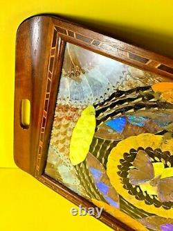 Vintage Art Déco Butterfly Wing Artisan Serviteur