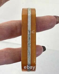 Vintage Art Deco Lot 8 Bakelite Handle Catalin Drawer Knobs Butterscotch 109g