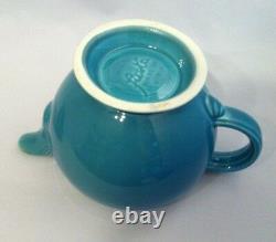 Vintage Fiestaware Turquoise Moyenne Théière Fiesta Blue C Poignée Théière