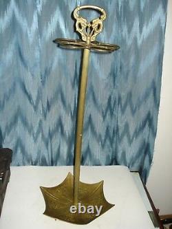 Vintage Parapluie En Laiton Orné, 5 Supports Canne, Stick Stand Avec Poignée Dragons