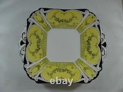 Vintage Shelley China Queen Anne, Handled Cake Plate 1926 Art Déco #723404