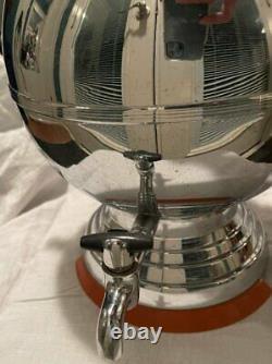 Vtg Art Deco Grand Chrome Percolateur De Café Bakelite Poignée De Base Manning Bowman