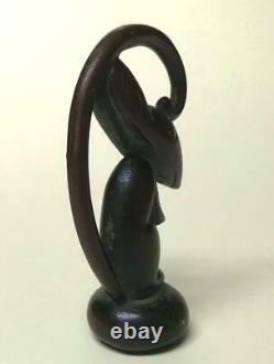 Whw Hagenauer Austria Rare Cane Handle Bronze Rat Vienna Art Déco